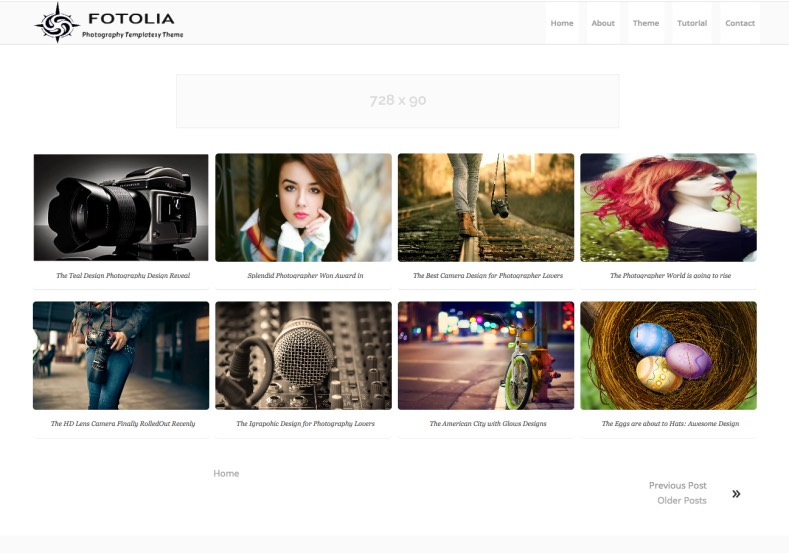 Fotolia Photography Blogger Template free download 2017