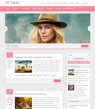 Frau Responsive Blogger Templates