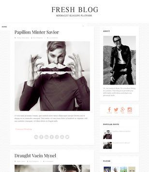 Fresh Blog Blogger Templates