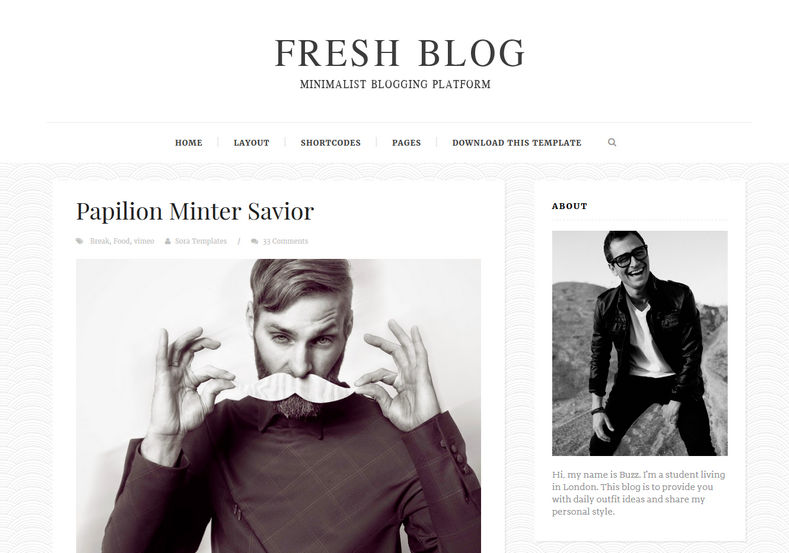Fresh Blog Blogger Template