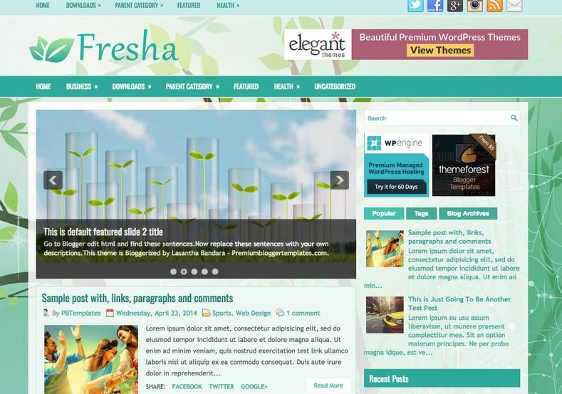 Fresha Responsive Blogger Template. Blogger templates 2015. Free blogger templates. blogspot themes