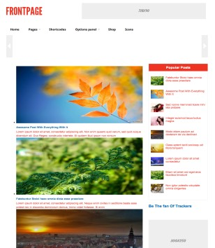 Front page Blogger Templates