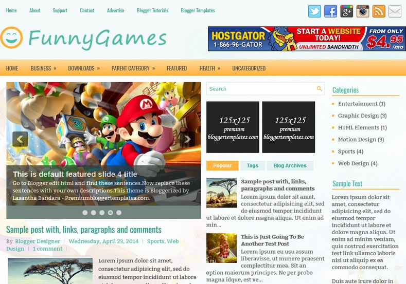 FunnyGames Anime Blogger Template. Blogger Themes. Free Blogspot templates for your blogger blog. Best suitable for news blog templates. Ads ready blogspot templates help for add adsense ad code and easily showing adsence ads in your blog. Adapted from WordPress templates are converted from WordPress themes. It is help for take your rich. Blogger magazine template specially designed for magazine blogs. The writers can utilize this themes for take blog attractive to users. Elegant themes are more used themes in most of the blogs. Minimalist blog templates. Free premium blogger themes means, themes authors release two types of themes. One is premium another one is free. Premium templates given for cost but free themes given for no cost. You no need pay From California, USA. $10 USD, or $20 USD and more. But premium buyers get more facilities from authors But free buyers. If you run game or other animation oriented blogs, and you can try with Anime blog templates. Today the world is fashion world. So girls involve to the criteria for make their life fashionable. So we provide fashion blogger themes for make your fashionable. News is most important concept of the world. Download news blogger templates for publishing online news. You can make your blog as online shopping store. Get Online shopping store blogger template to sell your product. Navigation is most important to users find correct place. Download drop down menu, page navigation menu, breadcrumb navigation menu and vertical dropdown menu blogspot themes for free. Google Guide. Blogging tips and Tricks for bloggers. Google bloggers can get blogspot trick and tips for bloggers. Blog templates portfolio professional blogspot themes, You can store your life moments with your blogs with personal pages templates. Video and movie blogs owners get amazing movie blog themes for their blogs. Business templates download. We publish blogger themes for photographers. Photographers easily share photos via photography blog th