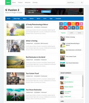 G Vusion 2 Blogger Templates