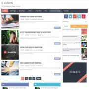 G Vusion Responsive Blogger Templates