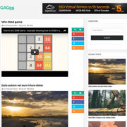 GAG99 Galley Video Responsive Blogger Templates