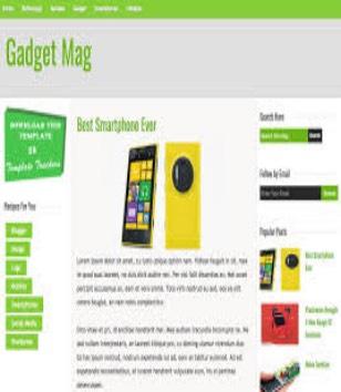Gadget Mag Blogger Templates