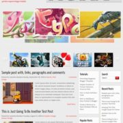 Gameliso Magazine Blogger Templates