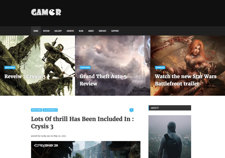 Gamer Blogger Template. gamer blogger templates 2015 free