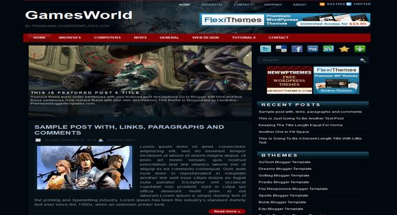 Games World blogger template.Free Blogger templates. Blog templates. Template blogger, professional blogger templates free. blogspot themes, blog templates. Template blogger. blogspot templates 2013. template blogger 2013, templates para blogger, soccer blogger, blog templates blogger, blogger news templates. templates para blogspot. Templates free blogger blog templates. Download 1 column, 2 column. 2 columns, 3 column, 3 columns blog templates. Free Blogger templates, template blogger. 4 column templates Blog templates. Free Blogger templates free. Template blogger, blog templates. Download Ads ready, adapted from WordPress template blogger. blog templates Abstract, dark colors. Blog templates magazine, Elegant, grunge, fresh, web2.0 template blogger. Minimalist, rounded corners blog templates. Download templates Gallery, vintage, textured, vector,  Simple floral.  Free premium, clean, 3d templates.  Anime, animals download. Free Art book, cars, cartoons, city, computers. Free Download Culture desktop family fantasy fashion templates download blog templates. Food and drink, games, gadgets, geometric blog templates. Girls, home internet health love music movies kids blog templates. Blogger download blog templates Interior, nature, neutral. Free News online store online shopping online shopping store. Free Blogger templates free template blogger, blog templates. Free download People personal, personal pages template blogger. Software space science video unique business templates download template blogger. Education entertainment photography sport travel cars and motorsports. St valentine Christmas Halloween template blogger. Download Slideshow slider, tabs tapped widget ready template blogger. Email subscription widget ready social bookmark ready post thumbnails under construction custom navbar template blogger. Free download Seo ready. Free download Footer columns, 3 columns footer, 4columns footer. Download Login ready, login support template blogger. Drop down me