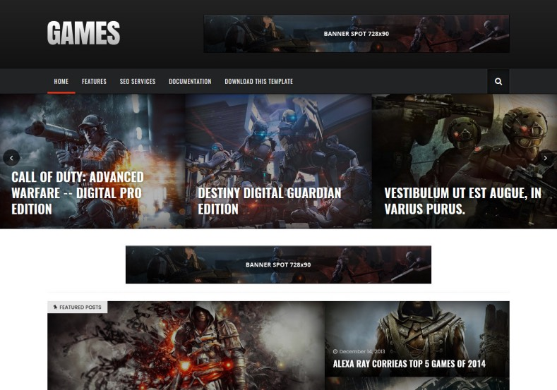 Games sora Blogger Template. Best free blogger templates 2017 specially designed for game designers and games review writers. Dark color template named Games sora Blogger Template.