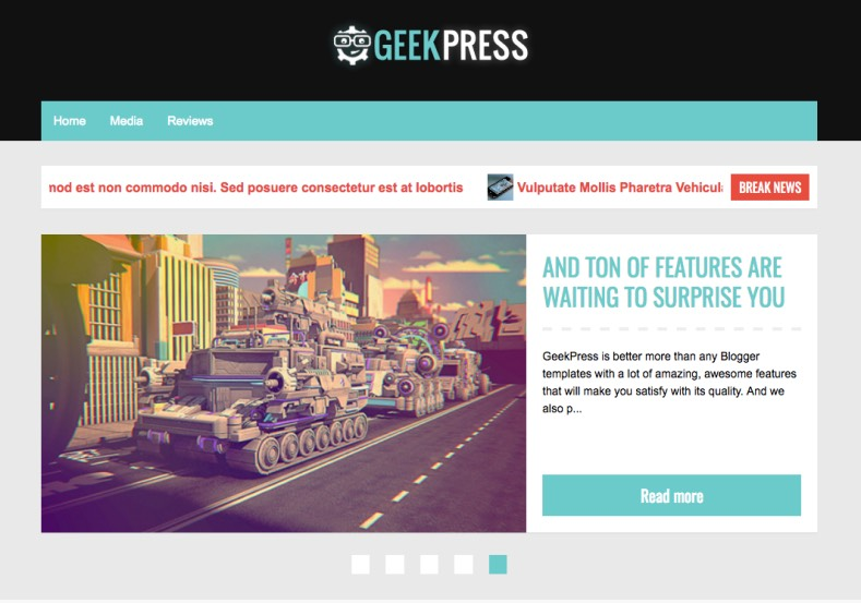 Geek Press Blogger Template. 2015 review premium blogger themes