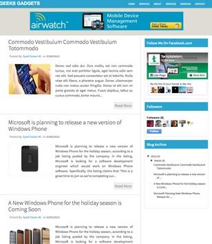 Geeks Gadgets Blogger Templates