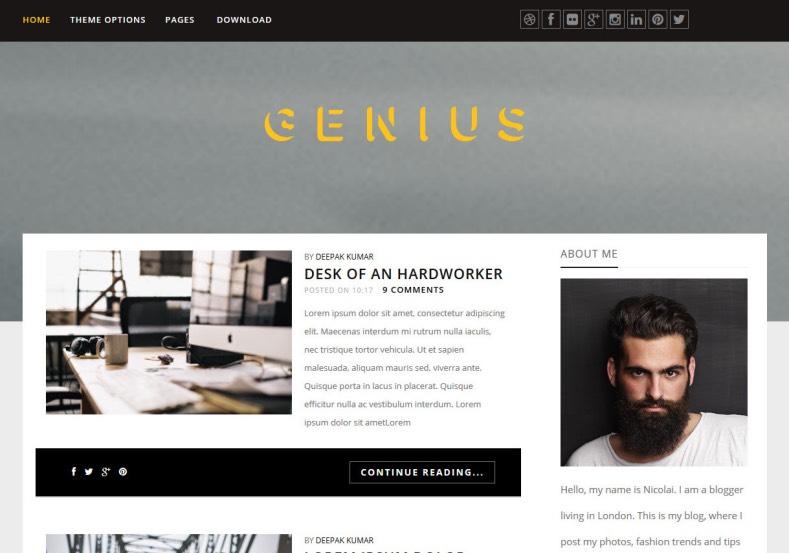 Genius Responsive Blogger Template. 2015 Genius Responsive Blogger Template free themes
