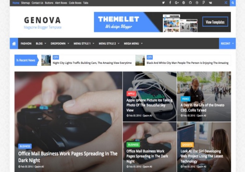 Genova Blogger Template