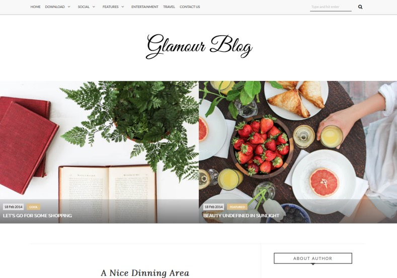 Glamour Blogger Template is simple and elegant theme for blogger. This theme best choice for create and publish fashion and personal blogs. Glamour Blogger Template.