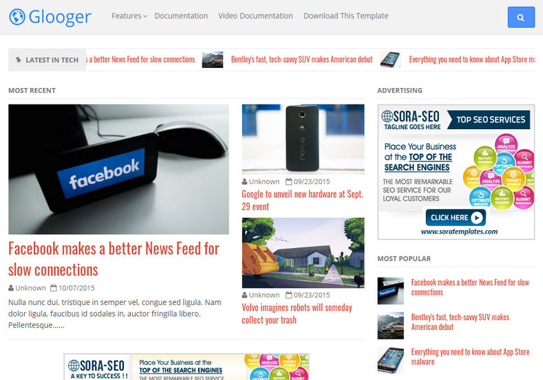 Google Blogger Template is adsense friendly and responsive blogspot theme which is 100% coded as per google blogger guide