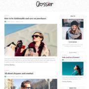 Glossier Blogger Templates