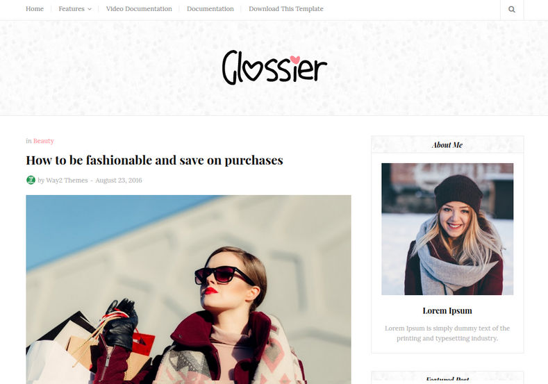Glossier Blogger Template is a simple beauty focused responsive fast loading blogspot theme, specially made for fashion and simple looking theme lovers