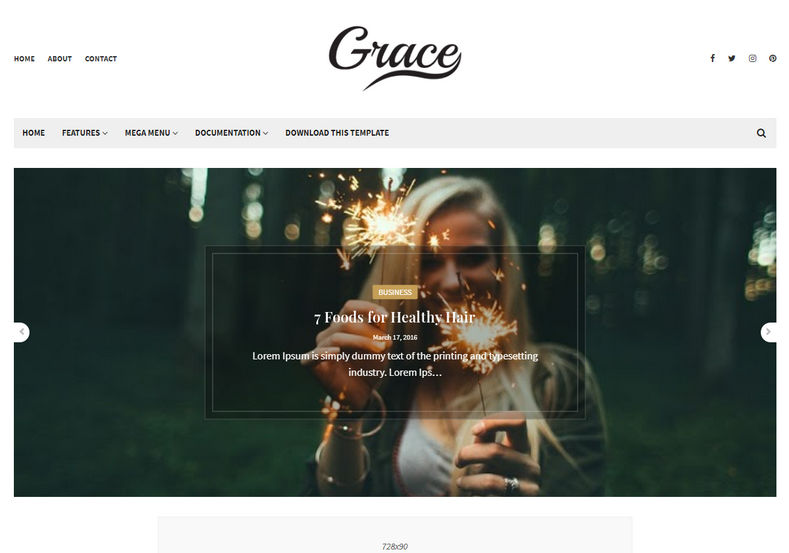 Grace Blogger Template is a stylish but elegant looking blogspot theme with minimalist approach having a clean look and feel.