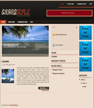 Grand Style Blogger Templates
