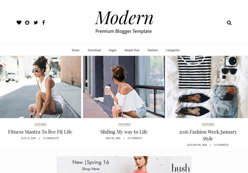 Gride Modern Blogger Template. Who want new look and new facility from the free blogger templates 2017, they need to download Gride Modern Blogger Template for your blogger blog to give modern look for your blogger blog.