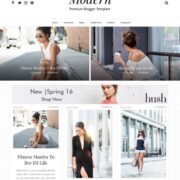 Gride Modern Full Blogger Templates