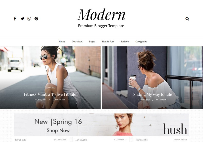 Gride Modern Full Blogger Template. Free blogger templates 2017 named Gride Modern Full Blogger Template. This template will give modern and new look for your blogger blog. Download template blogger.
