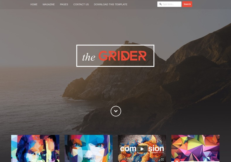 Grider Blogger Template