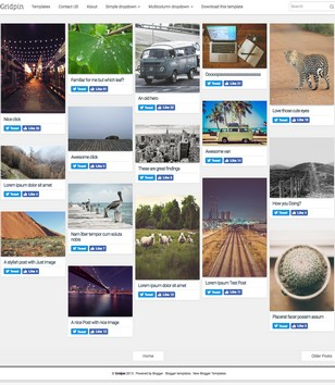 Gridpin Responsive Blogger Templates