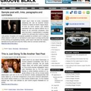 Groove Black Blogger Templates