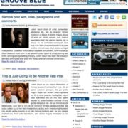 Groove Blue Blogger Templates