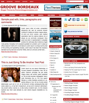 Groove Bordeaux Blogger Templates