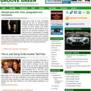 Groove Green Blogger Templates