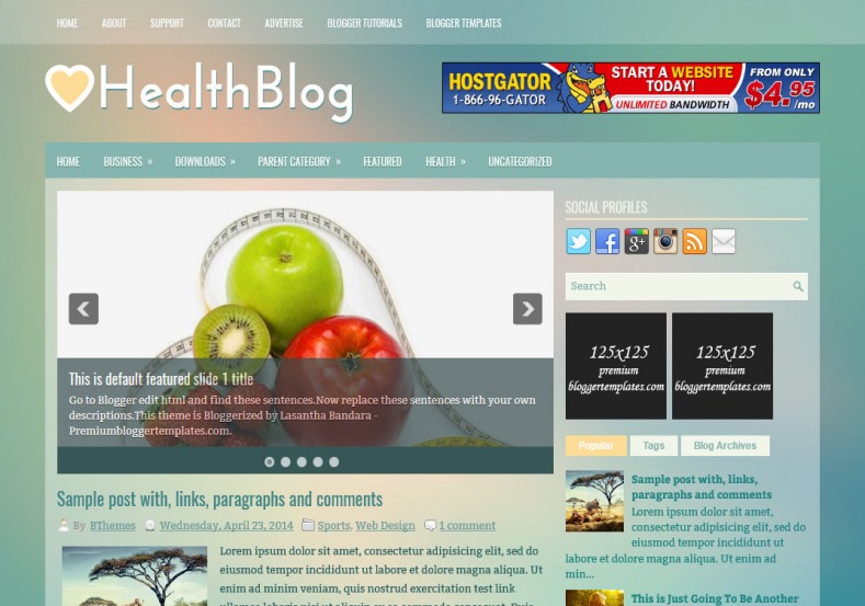 HealthBlog Blogger Template. Blogger Themes. Best suitable for news blog templates. Ads ready blogspot templates help for add adsense ad code and easily showing adsence ads in your blog. Adapted from WordPress templates are converted from WordPress themes. It is help for take your rich. Blogger magazine template specially designed for magazine blogs. The writers can utilize this themes for take blog attractive to users. Elegant themes are more used themes in most of the blogs. Minimalist blog templates. Free premium blogger themes means, themes authors release two types of themes. One is premium another one is free. Premium templates given for cost but free themes given for no cost. You no need pay From California, USA. $10 USD, or $20 USD and more. But premium buyers get more facilities from authors But free buyers. If you run game or other animation oriented blogs, and you can try with Anime blog templates. Today the world is fashion world. So girls involve to the criteria for make their life fashionable. So we provide fashion blogger themes for make your fashionable. News is most important concept of the world. Download news blogger templates for publishing online news. You can make your blog as online shopping store. Get Online shopping store blogger template to sell your product. Navigation is most important to users find correct place. Download drop down menu, page navigation menu, breadcrumb navigation menu and vertical dropdown menu blogspot themes for free. Google Guide. Blogging tips and Tricks for bloggers. Google bloggers can get blogspot trick and tips for bloggers. Blog templates portfolio professional blogspot themes, You can store your life moments with your blogs with personal pages templates. Video and movie blogs owners get amazing movie blog themes for their blogs. Business templates download. We publish blogger themes for photographers. Photographers easily share photos via photography blog themes. St valentine Christmas Halloween templates. Download Slideshow slider templates for free. Under construction coming soon custom blogspot template. Best beautiful high quality Custom layouts Blog templates from templateism, SoraTemplates, templatetrackers, simple, cute free premium professional unique designs blog themes blogspot themes. Seo ready portfolio anime fashion movie movies health custom layouts best download blogspot themes simple cute free premium professional unique designs xml html code html5.