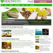 HealthNews Blogger Templates