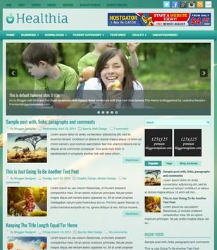 Healthia Blogger Templates