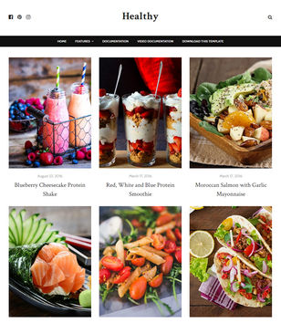 Healthy Blogger Templates