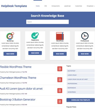 HelpDesk Theme Responsive Blogger Templates