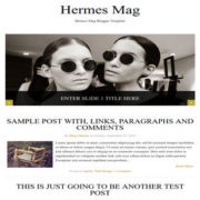 Hermes Mag Responsive Blogger Templates