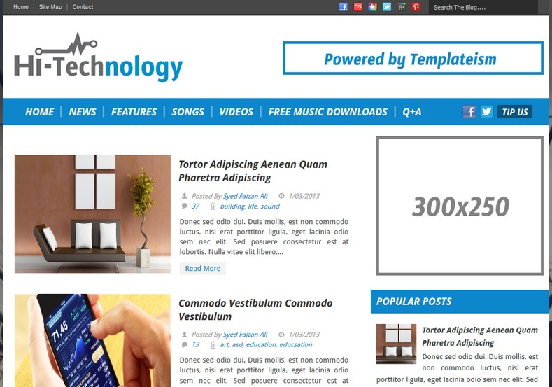 Hi Tech Blogger Template 2014 Free Download