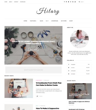 Hilary Blogger Templates