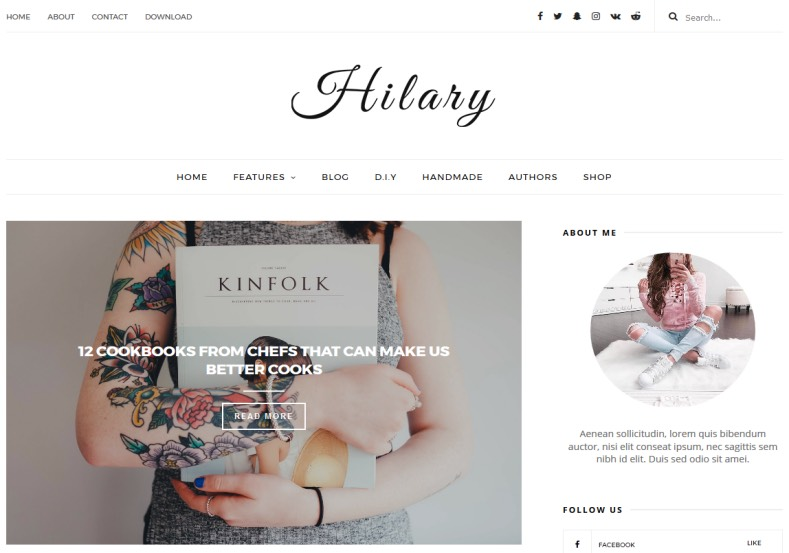 Hilary Blogger Template. Best amazing blogger templates 2017 for your blogger blog. Best quality blogspot themes for girls and fashion blogspot blogs. Download free Hilary Blogger Template.