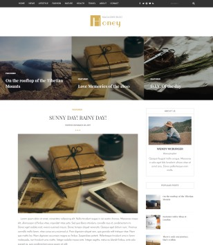 Honey Blogger Templates