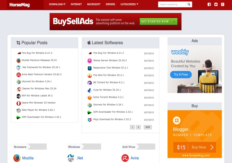 HorseMag Red Blogger Template. Blogger Themes. Free Blogspot templates for your blogger blog. Best suitable for news blog templates. Best Ads ready blogspot templates help for add adsense ad code and easily showing adsence ads in your blog. Adapted from WordPress templates are converted from WordPress themes. It is help for take your rich. Blogger magazine template specially designed for magazine blogs. The writers can utilize this themes for take blog attractive to users. Elegant themes are more used themes in most of the blogs. Use minimalist blog templates for rich look for your blog. Free premium blogger themes means, themes authors release two types of themes. One is premium another one is free. Premium templates given for cost but free themes given for no cost. You no need pay From California, USA. $10 USD, or $20 USD and more. But premium buyers get more facilities from authors But free buyers. If you run game or other animation oriented blogs, and you can try with Anime blog templates. Today the world is fashion world. So girls involve to the criteria for make their life fashionable. So we provide fashion blogger themes for make your fashionable. News is most important concept of the world. Download news blogger templates for publishing online news. You can make your blog as online shopping store. Get Online shopping store blogger template to sell your product. Navigation is most important to users find correct place. Download drop down menu, page navigation menu, breadcrumb navigation menu and vertical dropdown menu blogspot themes for free. Google Guide to blogging tips and tricks for bloggers. Google bloggers can get blogspot trick and tips for bloggers. Blog templates portfolio professional blogspot themes, You can store your life moments with your blogs with personal pages templates. Video and movie blogs owners get amazing movie blog themes for their blogs. Business templates download. We publish blogger themes for photographers. Photographers easily share photos via photography blog themes. St valentine Christmas Halloween templates. Download Slideshow slider templates for free. Under construction coming soon custom blogspot template. Best beautiful high quality Custom layouts Blog templates from templateism, SoraTemplates, templatetrackers, simple, cute free premium professional unique designs blog themes blogspot themes. Seo ready portfolio anime fashion movie movies health custom layouts best download blogspot themes simple cute free premium professional unique designs xml html code html5. HorseMag Red Blogger Template