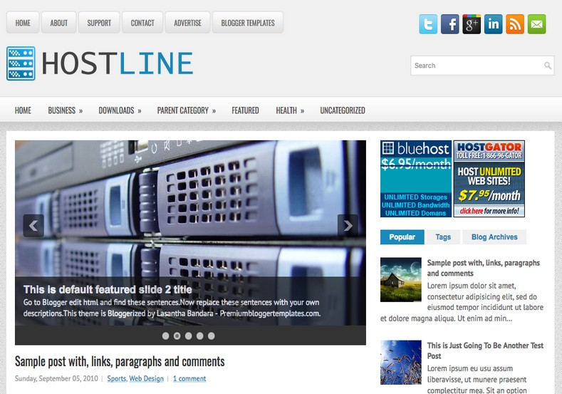 HostLine Blogger Template. Blogger Themes. Free Blogspot templates for your blogger blog. Best suitable for news blog templates. Best Ads ready blogspot templates help for add adsense ad code and easily showing adsence ads in your blog. Adapted from WordPress templates are converted from WordPress themes. It is help for take your rich. Blogger magazine template specially designed for magazine blogs. The writers can utilize this themes for take blog attractive to users. Elegant themes are more used themes in most of the blogs. Use minimalist blog templates for rich look for your blog. Free premium blogger themes means, themes authors release two types of themes. One is premium another one is free. Premium templates given for cost but free themes given for no cost. You no need pay From California, USA. $10 USD, or $20 USD and more. But premium buyers get more facilities from authors But free buyers. If you run game or other animation oriented blogs, and you can try with Anime blog templates. Today the world is fashion world. So girls involve to the criteria for make their life fashionable. So we provide fashion blogger themes for make your fashionable. News is most important concept of the world. Download news blogger templates for publishing online news. You can make your blog as online shopping store. Get Online shopping store blogger template to sell your product. Navigation is most important to users find correct place. Download drop down menu, page navigation menu, breadcrumb navigation menu and vertical dropdown menu blogspot themes for free. Google Guide to blogging tips and tricks for bloggers. Google bloggers can get blogspot trick and tips for bloggers. Blog templates portfolio professional blogspot themes, You can store your life moments with your blogs with personal pages templates. Video and movie blogs owners get amazing movie blog themes for their blogs. Business templates download. We publish blogger themes for photographers. Photographers easily share photos via photography blog themes. St valentine Christmas Halloween templates. Download Slideshow slider templates for free. Under construction coming soon custom blogspot template. Best beautiful high quality Custom layouts Blog templates from templateism, SoraTemplates, templatetrackers, simple, cute free premium professional unique designs blog themes blogspot themes. Seo ready portfolio anime fashion movie movies health custom layouts best download blogspot themes simple cute free premium professional unique designs xml html code html5.