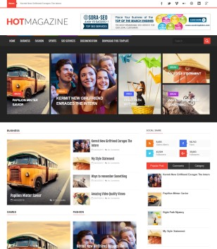 Hot Magazine Blogger Templates