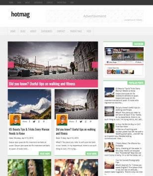 Hotmag Blogger Templates