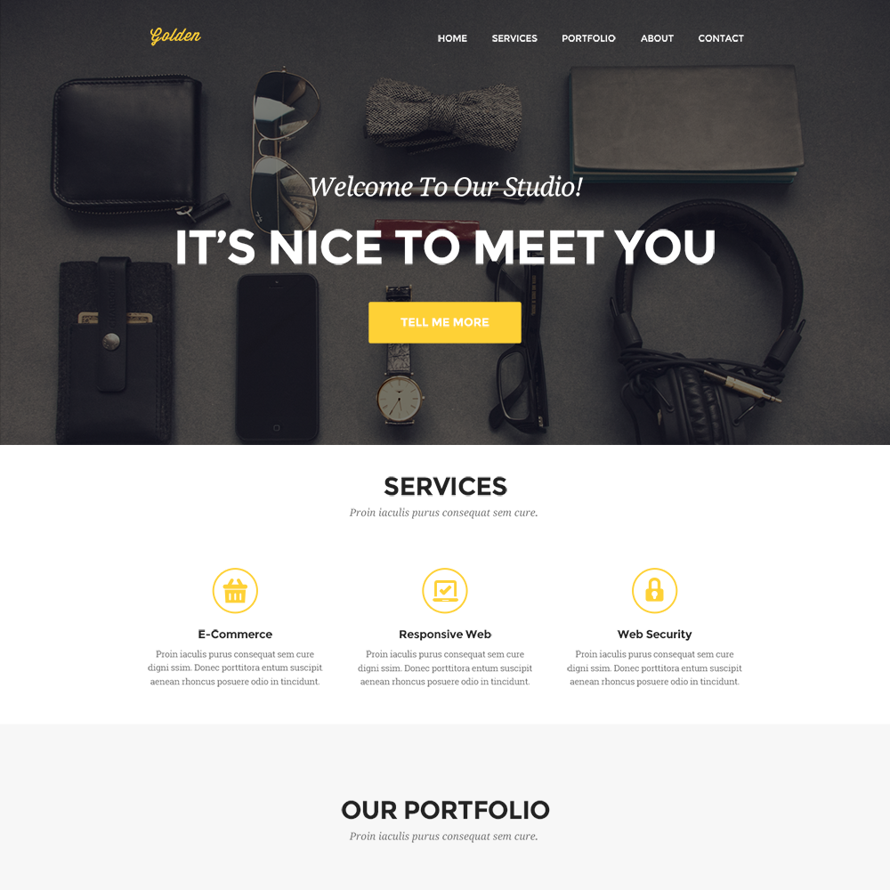Html5 Template for Website