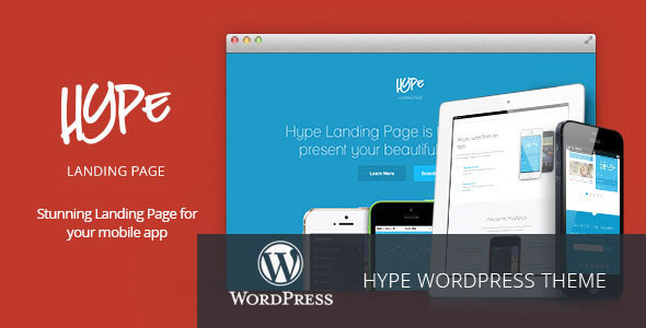 Hype - WordPress App Landing Page